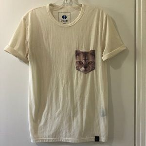 🌵4/$20 | DJAB Animated Cat Pocket T-Shirt